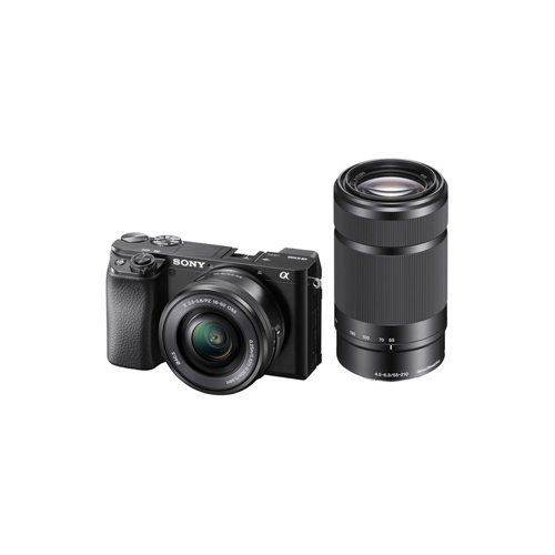 Sony Alpha a6100 Mirrorless Digital Camera with 16 50mm and 55 210mm Lenses