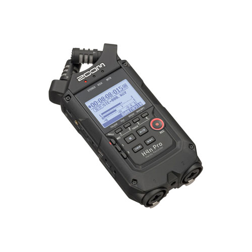 Zoom H4n Pro 4 Channel Portable Handy Recorder Black 3