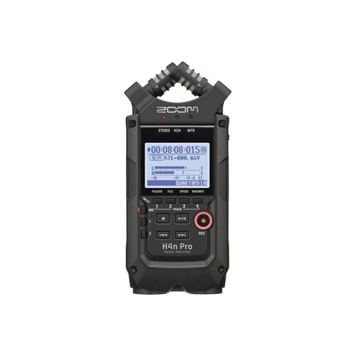 Zoom H4n Pro 4 Channel Portable Handy Recorder Black