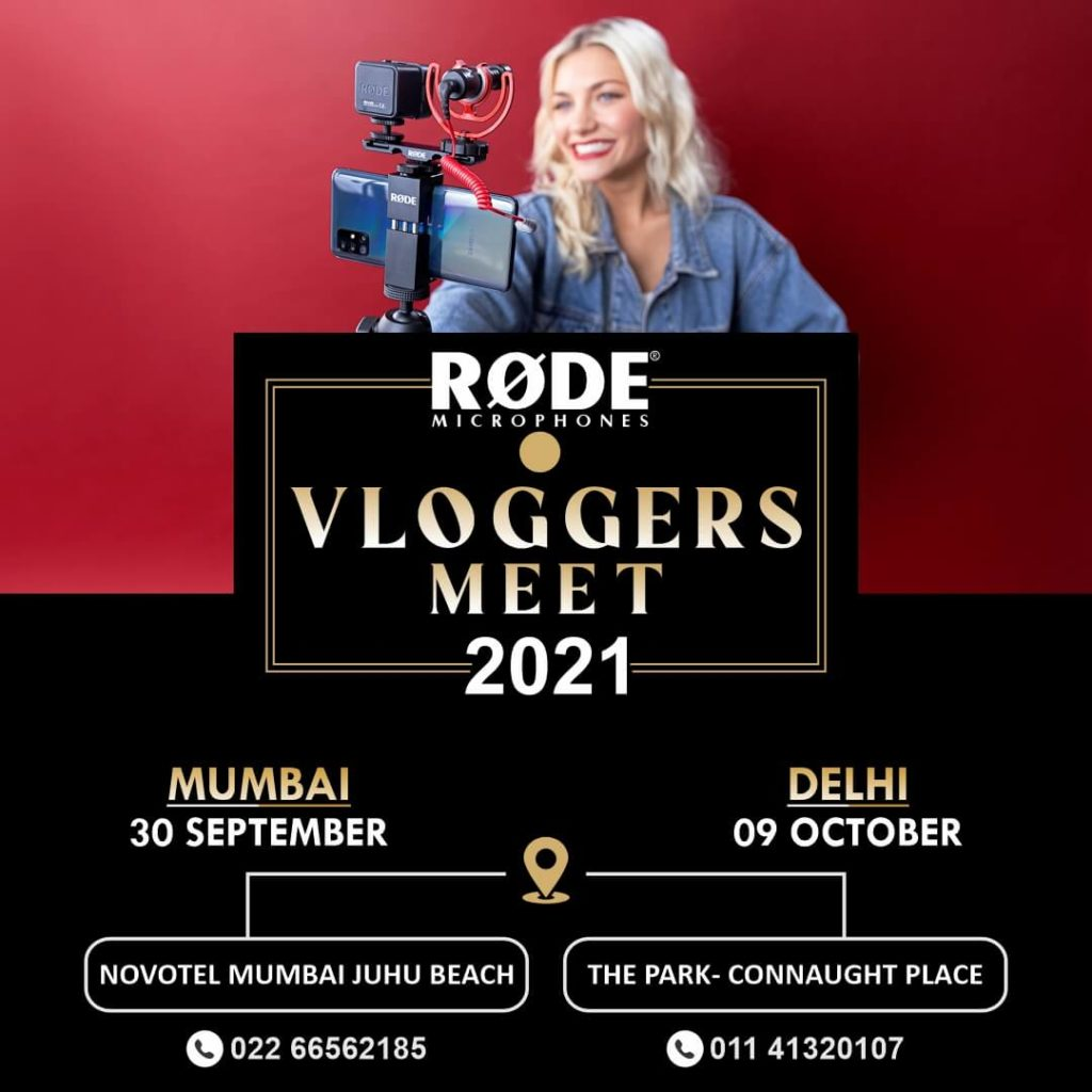 RODE vLoggers Meet 2021 Foto Centre India